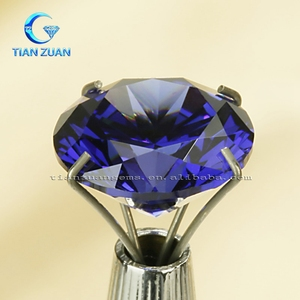 AAAAA+ Round shape Brilliant Cut cubic zirconia for Synthetic Tanzanite