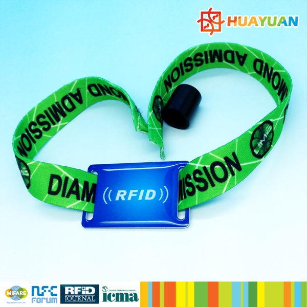 Custom Festival RFID Woven Fabric Wristband for Event Management