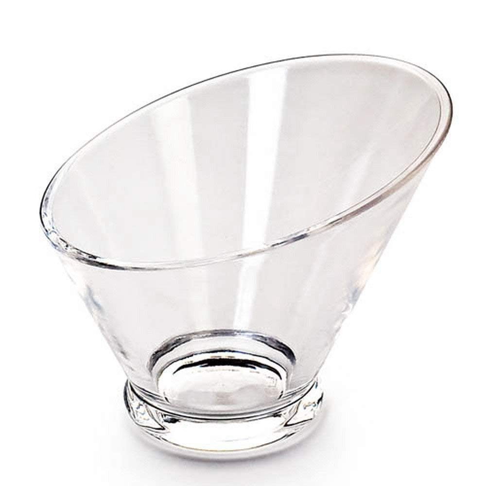 Giftale Acrylic Salad Bowl Break-Resistant, Polycarbonate Plastic Glassware Collection #9235