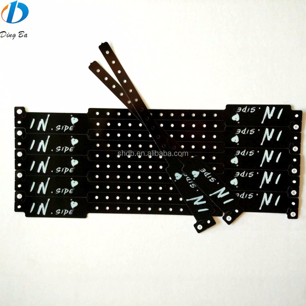 Alibaba Custom Adjustable Hard Plastic Snap Bracelet