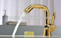 Basin Faucet Mixer Bath Faucets with Zinc Alloy handle The associated taps Bathroom Sink Faucets Golden finish