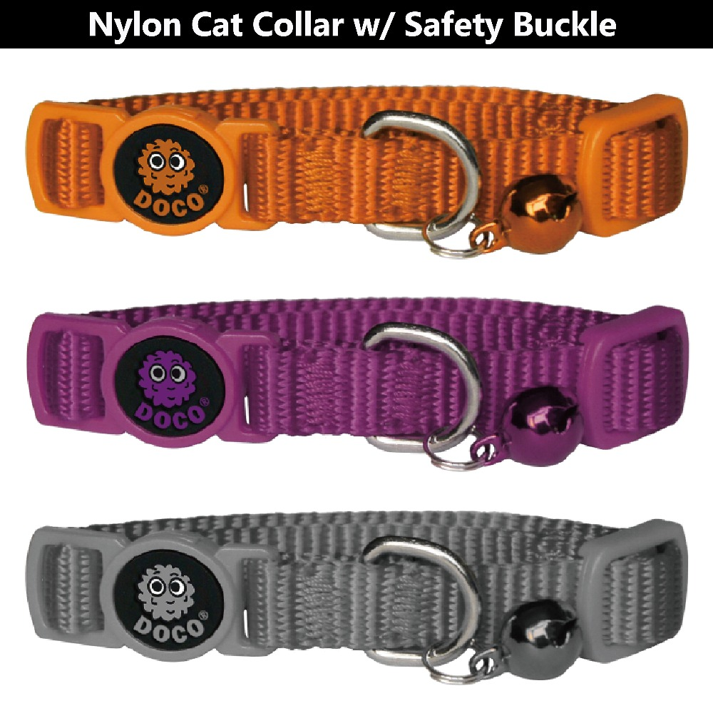 High safety Quick Release Nylon cat collar extra small Orange