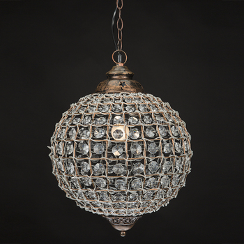 Round Globe Shade Crystal Ball Pendant Light Product On