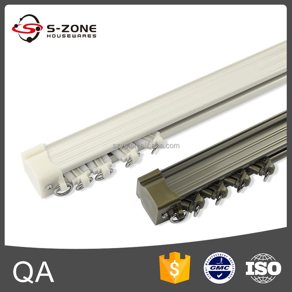 Aluminium metalen dubbele stille gliss gordijn track voor zware ...