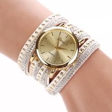 New Arrival 2015 Luxury Watch Women Lady Crystal Quartz Dress Watch Korean Crystal Rivet Bracelet Hours Free Shipping TW4268