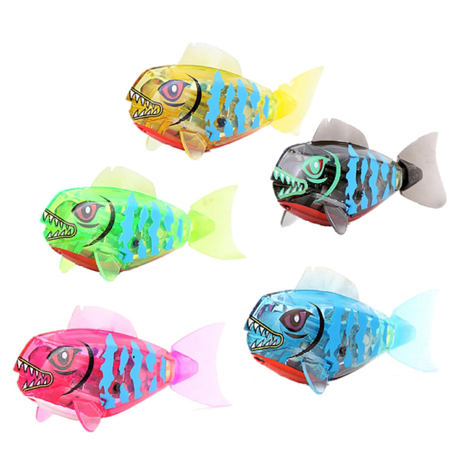 NEW! Cute Robofish Activated Battery Powered Robo Fish Toy Childen Kids Bath Toy Pet Electronic Robotic Fish Toy Random Color