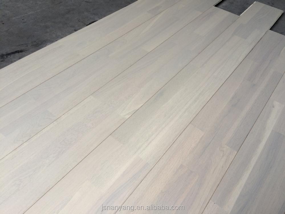 3 stroken eiken brede plank wit geschilderd op maat houten vloeren