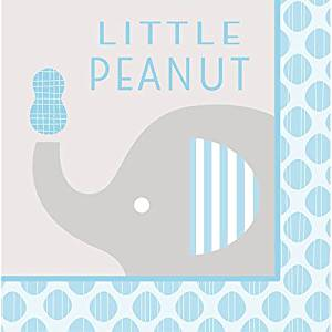 "Club Pack of 192 Little Peanut Boy Blue Baby Shower""Little Peanut"" Luncheon Napkins 6.5"""