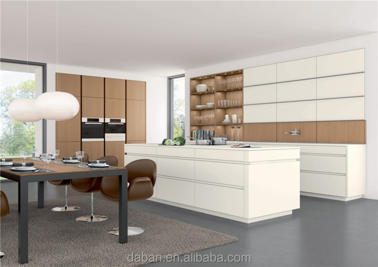 U shape furniture kitchen for villa and construction