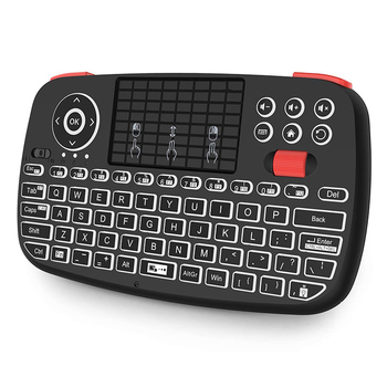Dual Mode Bluetooth and 2.4G Mini Wireless Keyboard with Touchpad Backlit