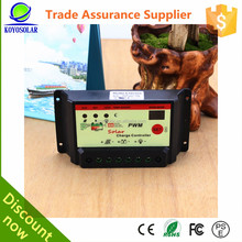 Best quality solar pv power system 24v 12v pwm 10a intelligent solar charge controller