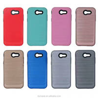 Anti Knock 2 in 1 Hybrid TPU+PC Case For Samsung Galaxy J3 2017/J3 Emerge/J3 Prime,Brushed Cases Cover For Samsung J3 Emerge
