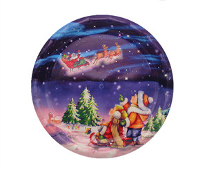 custom design decorative christmas ceramic plate
