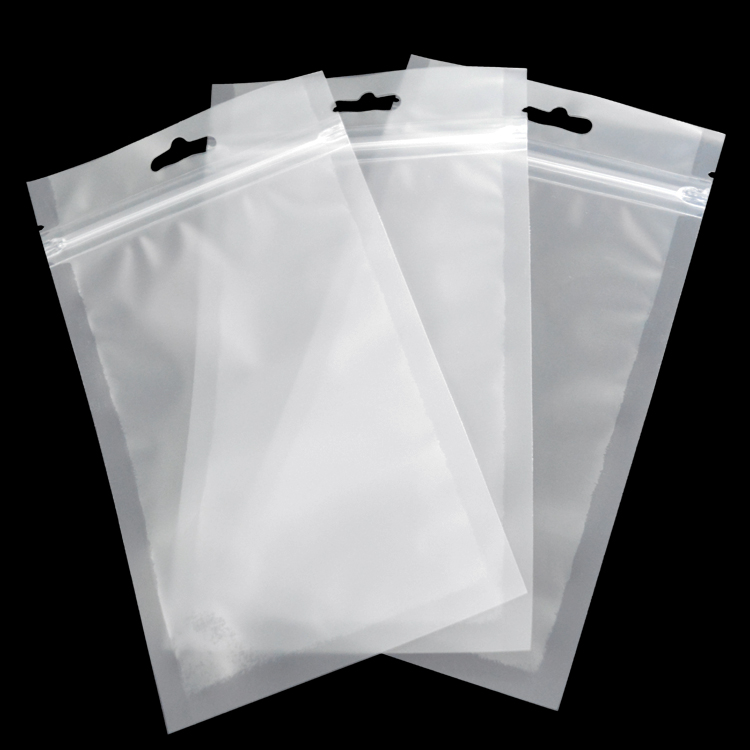 with header zipper clear plastic bags bulk