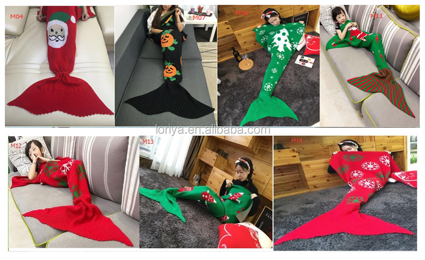 The new scales mermaid blanket knitted blanket fish tail blanket
