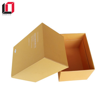 Shenzhen suppliers custom logo printed hard paper smartphone packaging box with lid