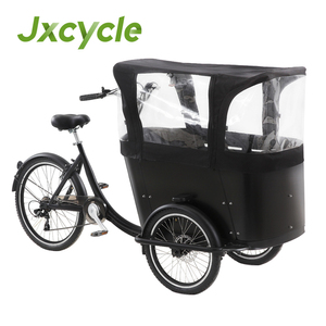 Dutch three wheel tricycle cargo bike rain cover