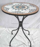 cheap garden mosaic table ceramic tiles mosaic round table