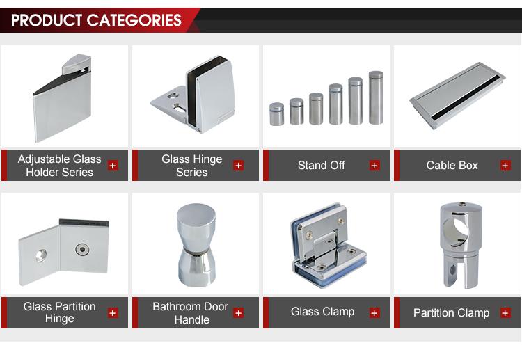 Furniture hardware Square zinc alloy glass clamp