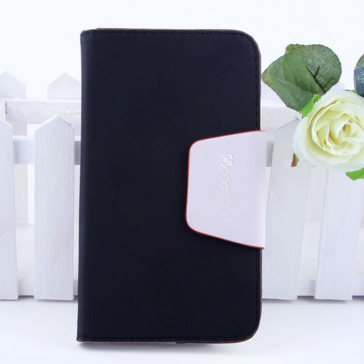 Hot selling wallet leather flip cover with magnet closure design flip leather case for samsung note 3