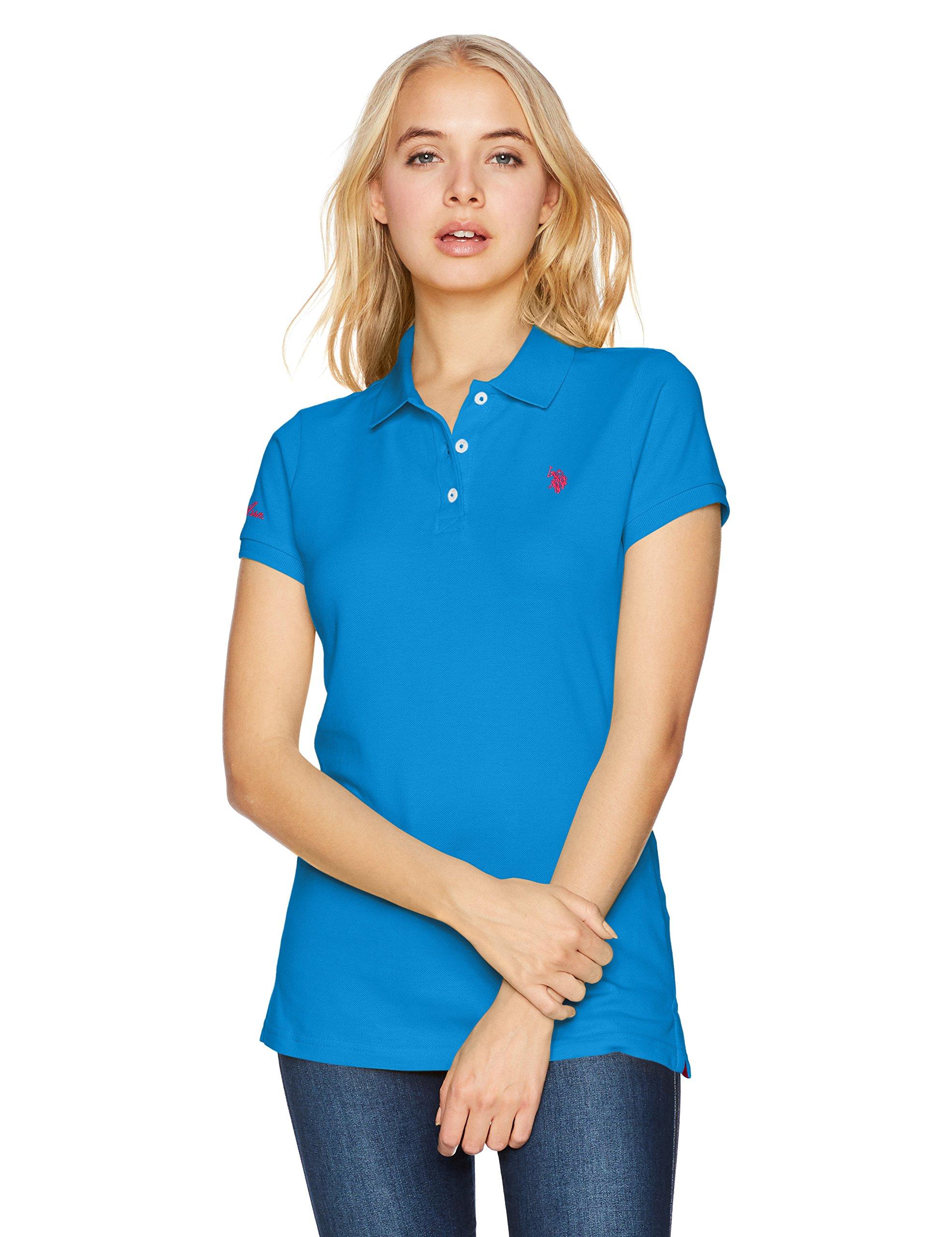 U.S. Polo Assn. Women's Solid Pique Polo Shirt