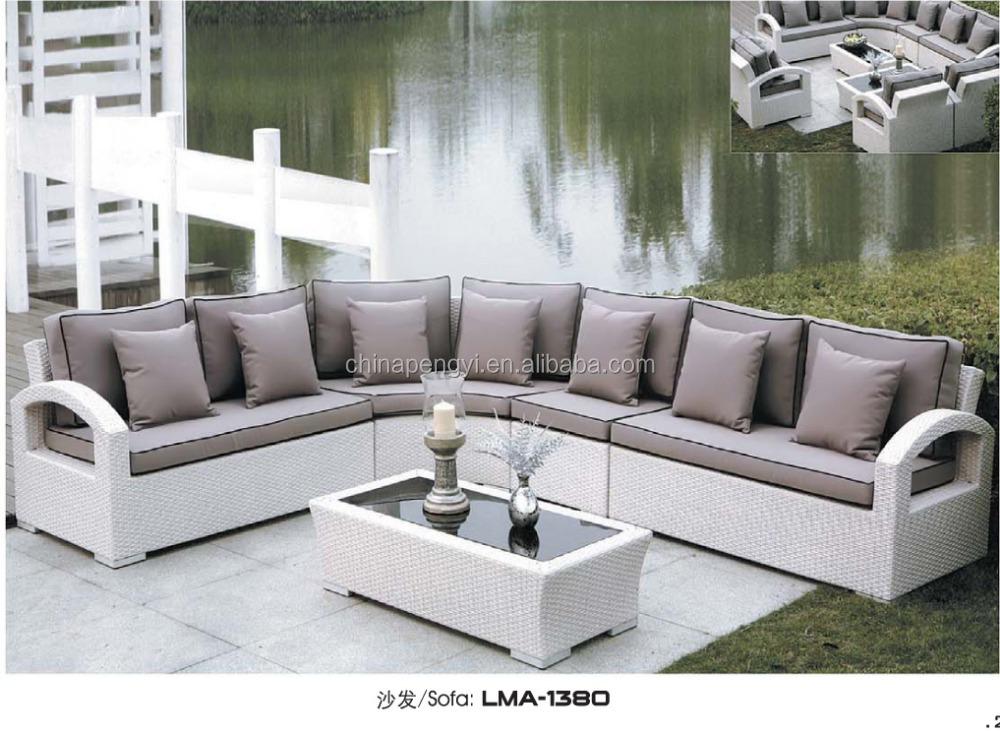 2016 fabulous veranda outdoor pe rotan set indonesische cane meubels rotan rieten sofa 39 s - Woonkamer rotan voor veranda ...