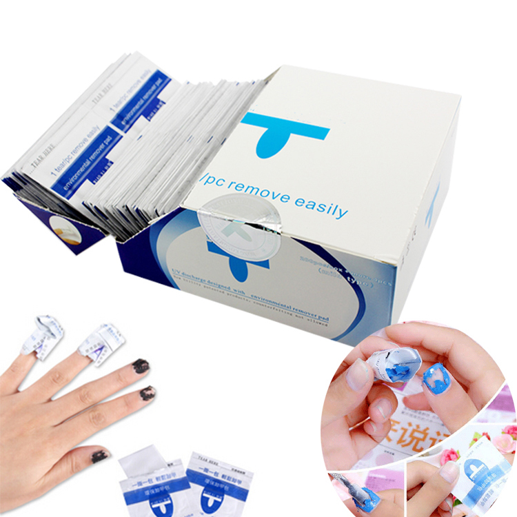 200Pcs/Set Gel Polish <strong>Remover</strong> Wraps Pads Manicure Tools Wet Wipes Paper Pads For Nail Gel Polish Cleaner
