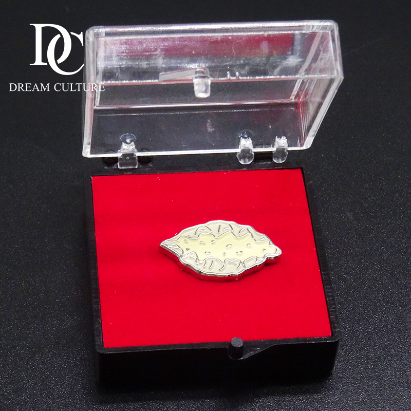 Special shell molding lapel pin badge