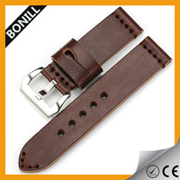 Customized High Quality Brown Genuine Leather Watch Strap