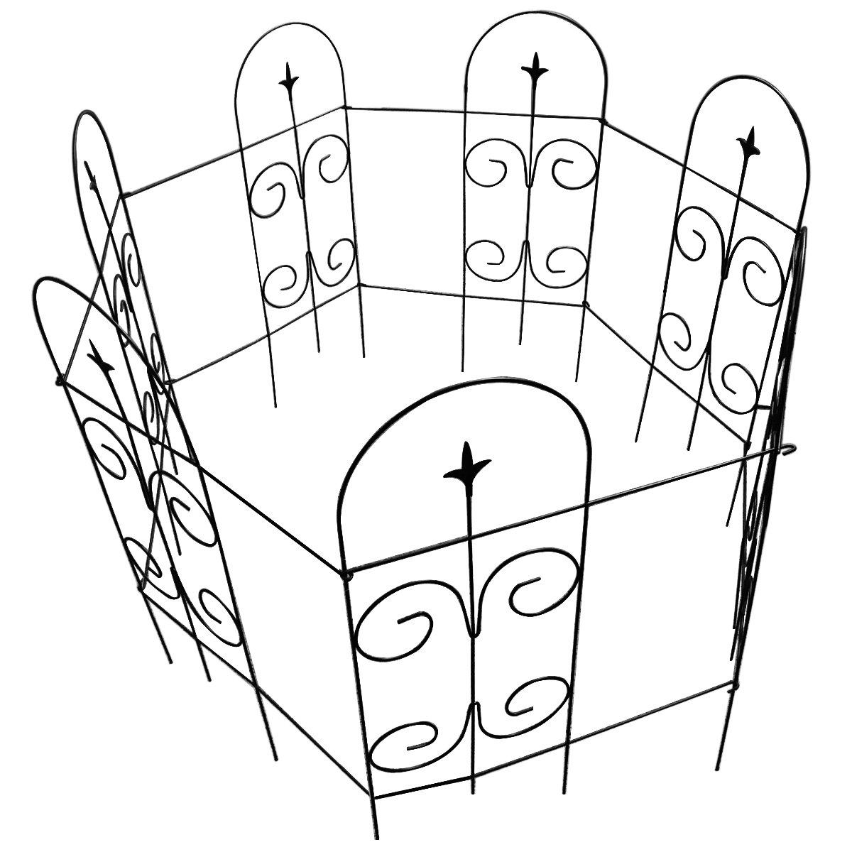 Buy Amagabeli Decorative Garden Fence 32in x 12ft Fencing Rustproof ...