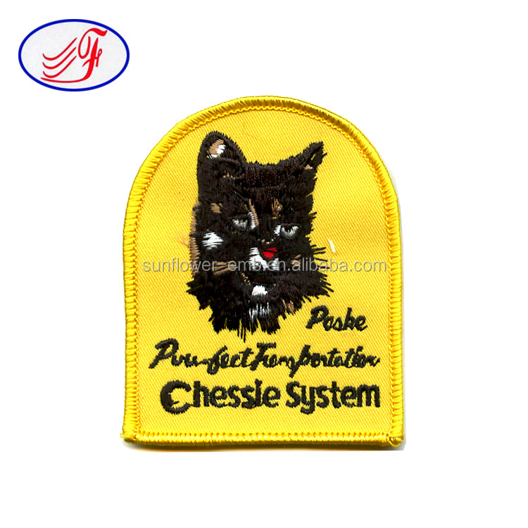 High quality custom logo DD letter badge Chessie System embroidery patch for unifroms