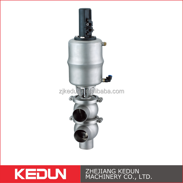 304/316L High Pressure Sanitary Stainless Steel Divert Seat Valve