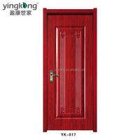 2017 Low Price Teak Wood Double Door Design Interior Doors with Frosted Glass Inserts
