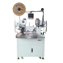 Fully automatic double-end flat wire stripping and cutting machine terminal and crimping machine