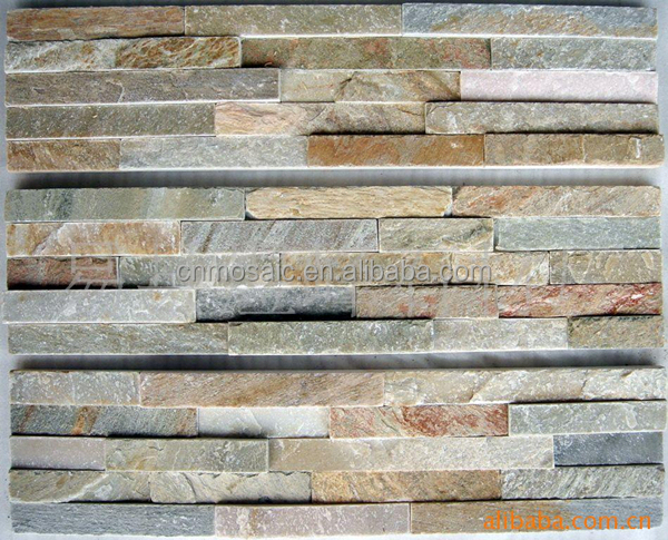 Long Strip Slate Stone Broken Marble Tile For Exterior Walls