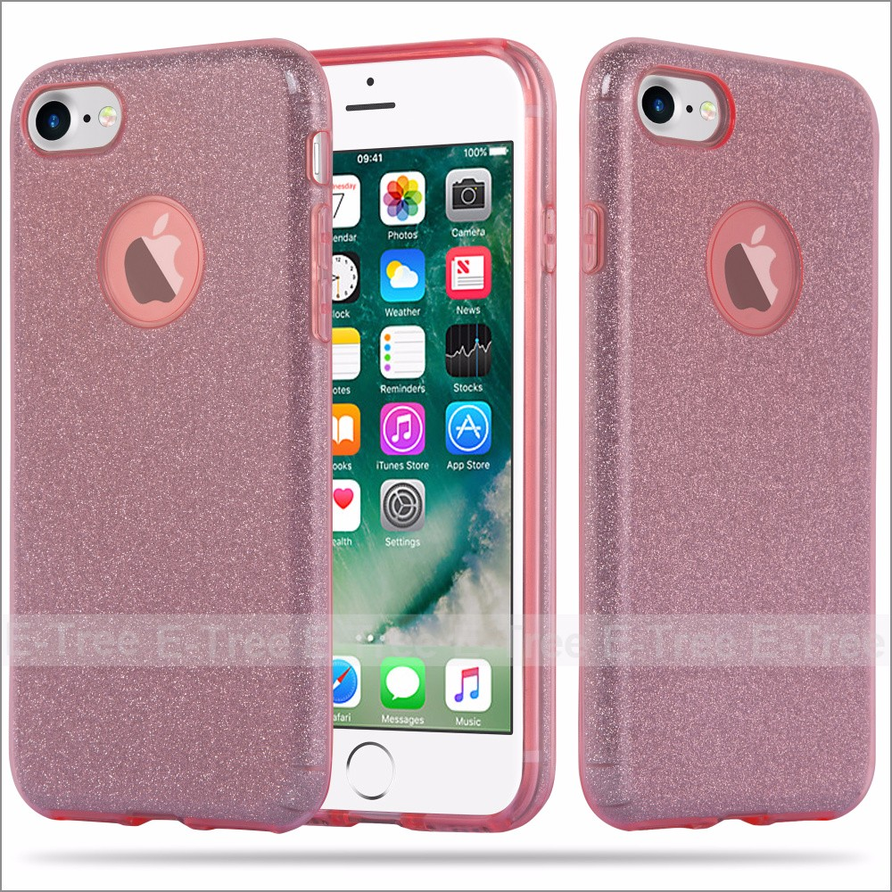 Blink 3 in 1 Glitter TPU PC Phone Case For Iphone7 ,Bling Cases For iPhone 7