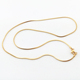 Stainless steel gold color snake chain necklaces wholesale