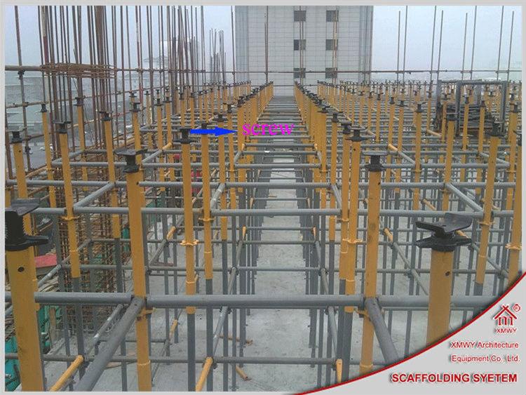 Construction Scaffolding Design : Adjustable u head screw base jack used in concrete