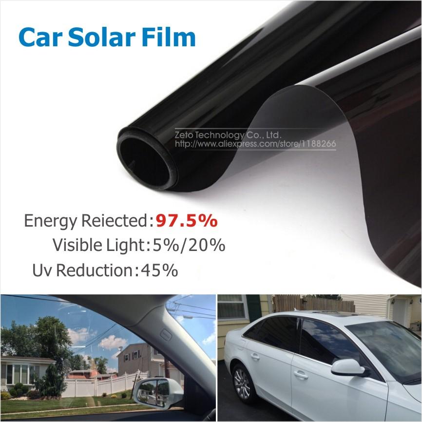 50x300cm vlt 5 20 car side window black tint film glass auto house solar uv protection summer. Black Bedroom Furniture Sets. Home Design Ideas