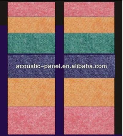 China Interior Wall Paneling Polyester Fiber Sound Insulation Recording  Studio Paneling