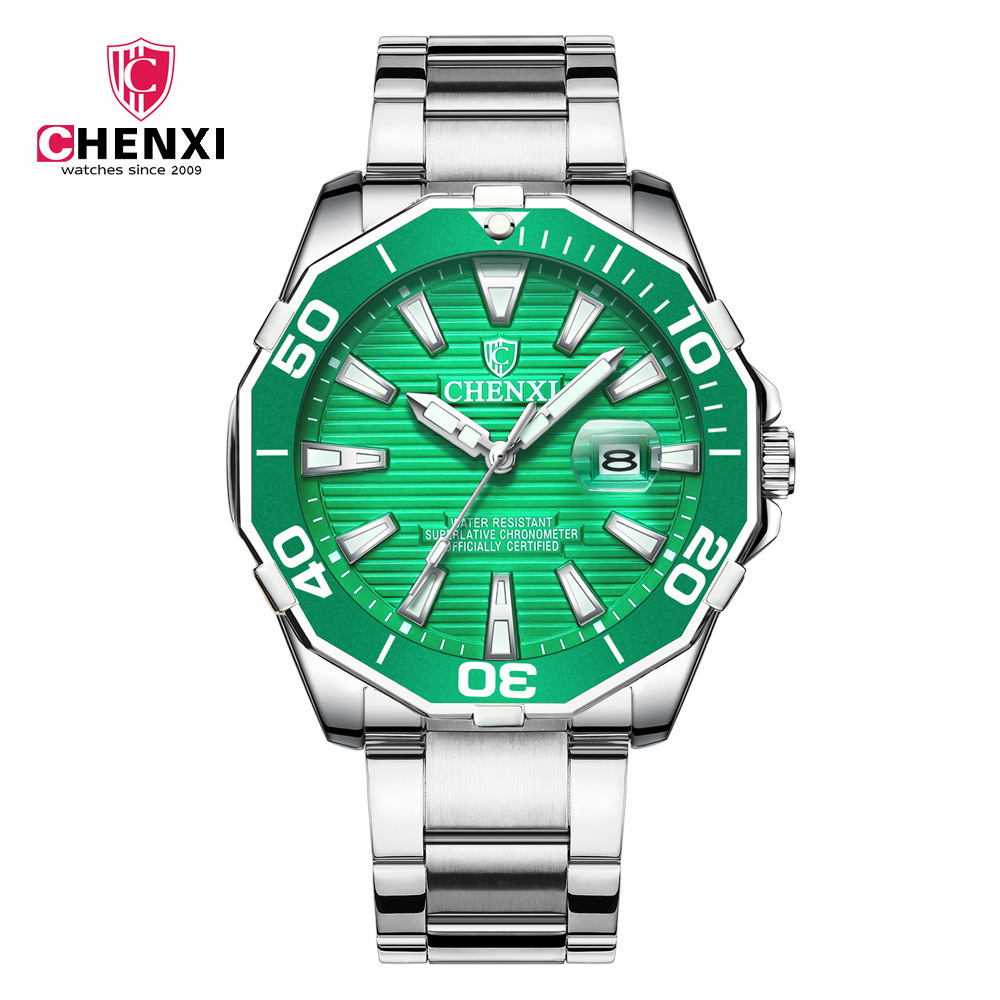automatic rollex Chronograph  watch solid stainless steel strap watches men for hotselling  quartz move dial wristwatch Luminous