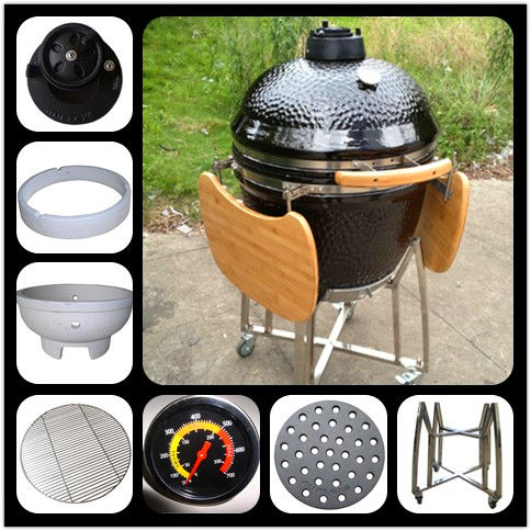 Large shiny auplex professional clay Ceramic bbq smoker/commercial outdoor bbq grill