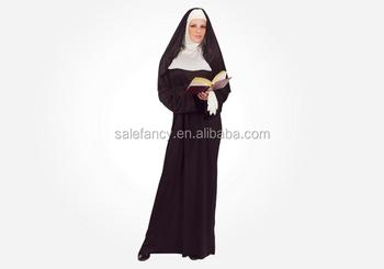 Sexy Adult Mother Superior Nun Halloween Costume Princess Leia