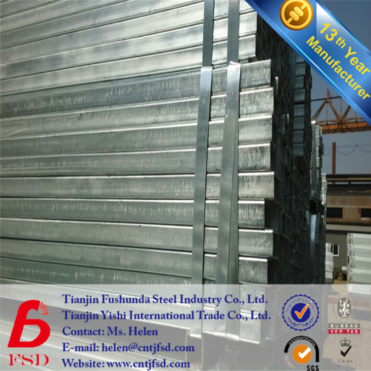 *Hot dip galvanized square bube madie in Tianjin q235
