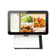 15 inch New dual screen all in one touch screen pos terminal machine