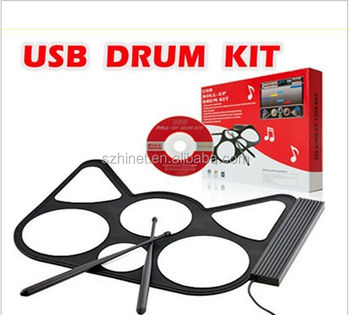 electronic foldable mini usb midi roll up drum kit drum kit software free offered with two. Black Bedroom Furniture Sets. Home Design Ideas