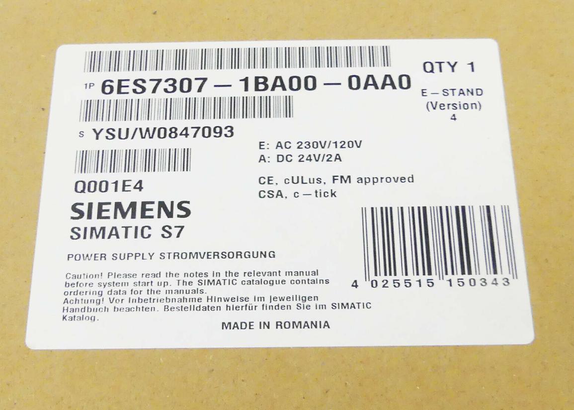 SIEMENS SIMATIC S7 6ES7307-1EA00-0AA0 6ES7 307-1EA00-0AA0 Vers used 5