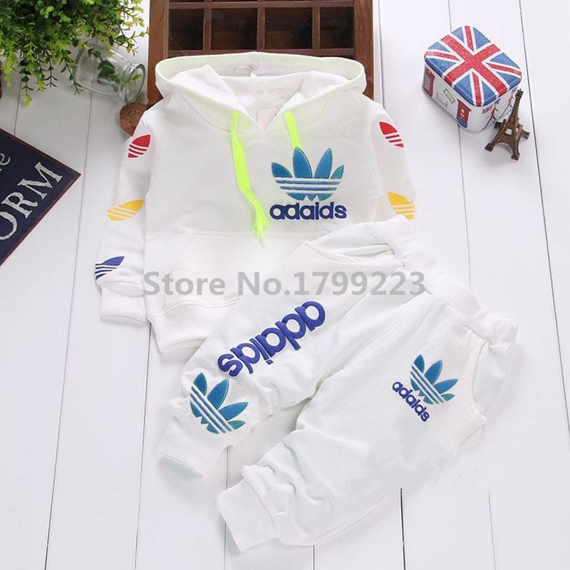 Brand Unisex Baby Boys Girls Long Sleeve Jackets Pants Leisure 2pcs
