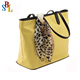 Fashion handbag Pu tote bag women handbag with scarves