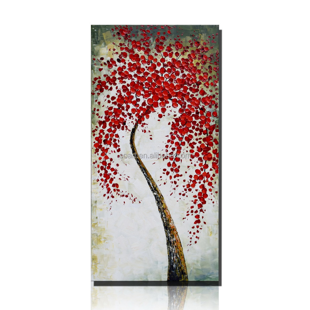 Beautiful Red Flower Designs Canvas Oil Painting